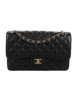 Caviar Classic Jumbo Double Flap Bag by Chanel