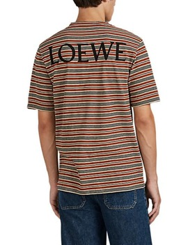 Pottery Tree Striped Cotton T Shirt by Loewe
