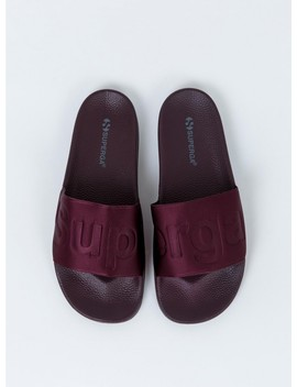 Superga 1908 Satin Slide Dark Bordeaux by Superga