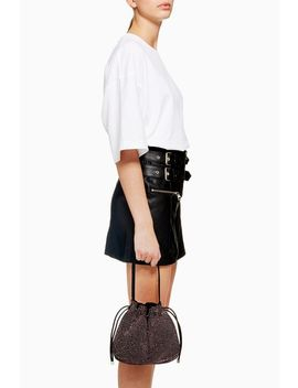Dina Diamante Drawstring Bag by Topshop