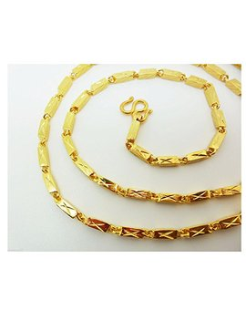 23k 24k Thai Yellow Gold Gp Filled Necklace 23 Gram 26 Inch Jewellery Jewellery by Arrawana77