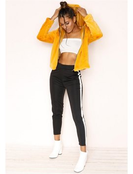 Idalia Black Stripe Trousers by Missy Empire
