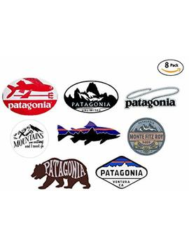 8 Sticker Set   Value Pack   Patagonia Monte Fitz Roy Perca Trucha (Percichthys Trucha)   Stickers Travel Adventure Awaits Wanderlust Symbol Window Mountain Motorcycle Car   Made And Shipped In Usa by Express Decor