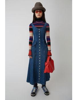 Scoop Neck Dress Dark Blue by Acne Studios