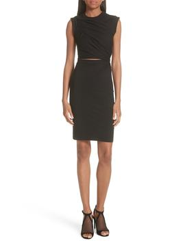 Keyhole Twist Compact Jersey Dress by T By Alexander Wang