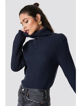Tinelle Rollneck Knit Midnight Blue by Na Kd