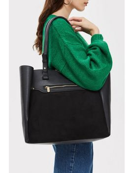 Sasha Slip Pocket Shopper Bag by Topshop