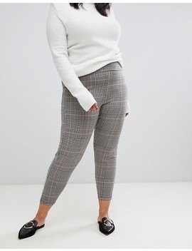New Look Curve Legging In Check by New Look Curve