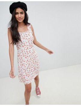 Nobody's Child – Camisole Kleid Mit Rüschenärmeln In Ditsy Blumenmuster by Nobody's Child