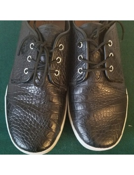 Toms Black Croc Sneaker by Toms