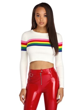 Rainbow Knit Tee by Windsor