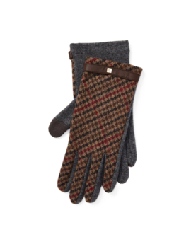 Houndstooth Tech Gloves by Ralph Lauren
