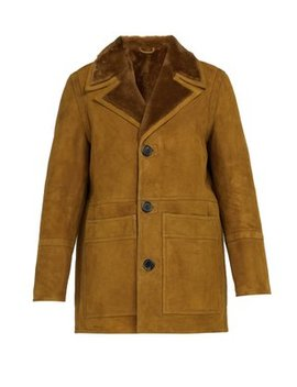 Patch Pocket Shearling Jacket by Ami