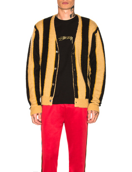 Vertical Stripe Cardigan by Stussy