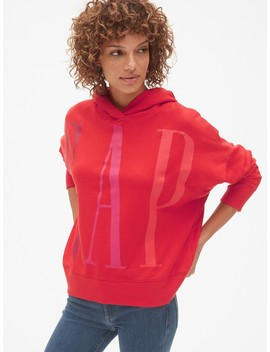 Oversized Logo Pullover Hoodie In French Terry by Gap