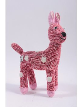 Anne Clair Petit Pink Plush Crochet Deer Vintage   Amugurumi  ~ The Pink Room ~ 161006 by Etsy