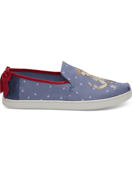 Disney X Toms Blue Snow White Bow Women's Deconstructed Alpargatas by Toms
