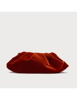 Felicity Burnt Orange Velvet Clutch by L.K.Bennett