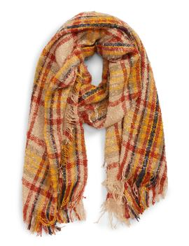 Oblong Plaid Scarf by Bp.