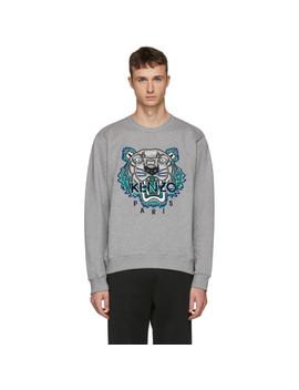 grey-leopard-tiger-sweatshirt by kenzo