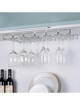 Rebrilliant Prewitt Shelf Hanging Wine Glass Rack & Reviews by Rebrilliant