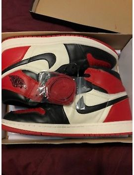 Air Jordan 1 Retro High Og Bred Toe Size 12 Near Ds Worn Once! Have Stock X Rec. by Nike Air Jordan
