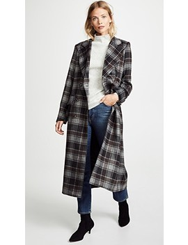 Gin Plaid Coat by Sosken