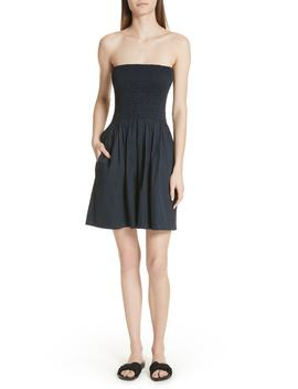 Strapless Ruched Bodice Dress by Atm Anthony Thomas Melillo