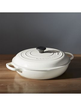 Le Creuset ® Signature 5 Qt. Cream Everyday Pan With Lid by Crate&Barrel