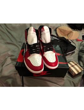 Air Jordan 1 Retro High Og 555088 101 Red White Size 12 Men Shoe by Jordan