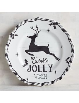 Humbolt Black Jolly Reindeer Salad Plate by Pier1 Imports