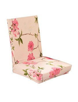 Generic Stretch Short Removable Dining Stool Chair Cover Slipcover Spring Flowers by Generic