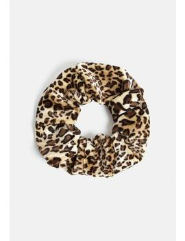 Brown Animal Print Scrunchie by Missguided