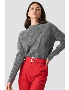 Wool Blend Sweater Grey by Na Kd
