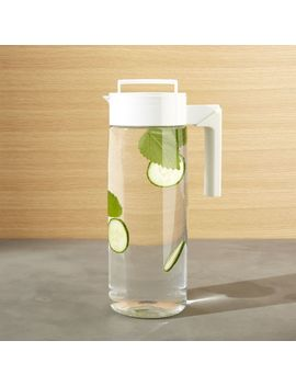 Airtight White 66oz Pitcher by Crate&Barrel