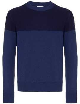 Tricot Stripe Virgin Wool Jumper by Moncler