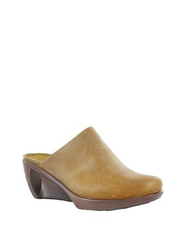 Leather Wedge Clog by Naot