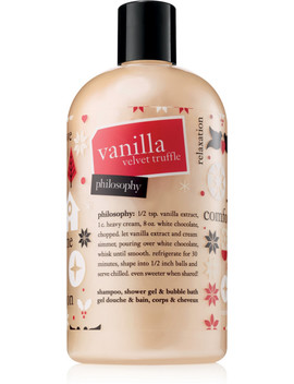 Vanilla Velvet Truffle Shampoo, Shower Gel & Bubble Bath by Philosophy