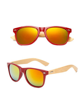 Womens Mens Fashion Sunglasses Cat Eye Vintage Bamboo Temple Retro Uv400 Glasses by Foenixsong
