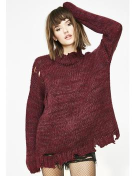 Ravage Savage Distressed Sweater by Moon River