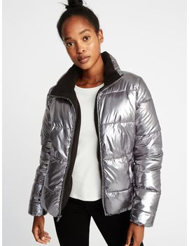 Metallic Frost Free Jacket For Women by Old Navy