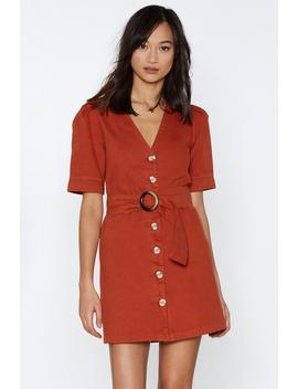 Belt Into You Button Down Dress by Nasty Gal