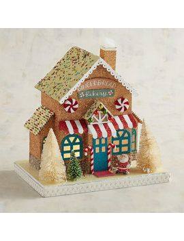 Led Light Up Paper Gingerbread House Christmas Village by Pier1 Imports