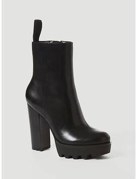 Nichele Leather Low Boot by Guess