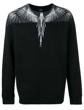 Wings Print Sweatshirt by Marcelo Burlon County Of Milan