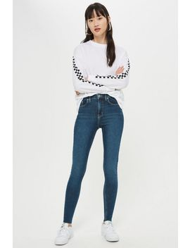 Petite Authentic Raw Hem Jam Jeans by Topshop