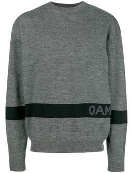 Contrast Logo Sweater by Oamc