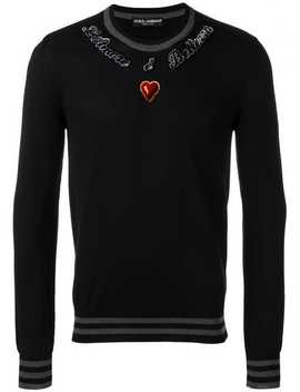 Intarsia Heart Sweater by Dolce & Gabbana