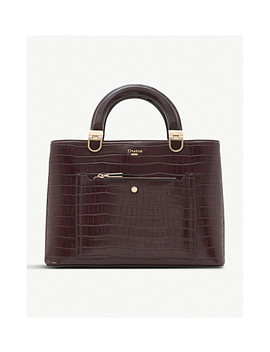 Denicee Crocodile Embossed Tote by Dune