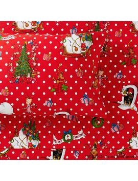 Grinch™ Festive Flannel Sheet Set by P Bteen